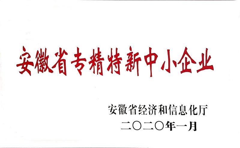 安徽省专精特新中小企业